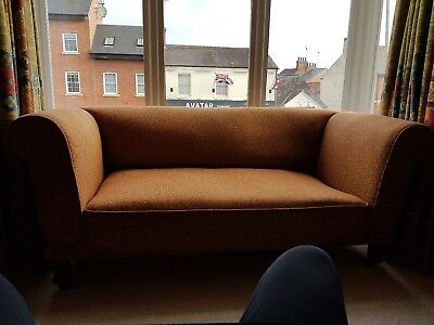 Victorian double drop arm chesterfield sofa