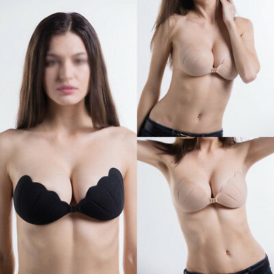 Silicone Gel Invisible Bra Self-adhesive Stick On Push Up Strapless Backless