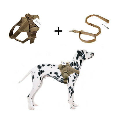 Tactical Dog Harness Military Training Patrol K9 Service Dog Vest with Handle