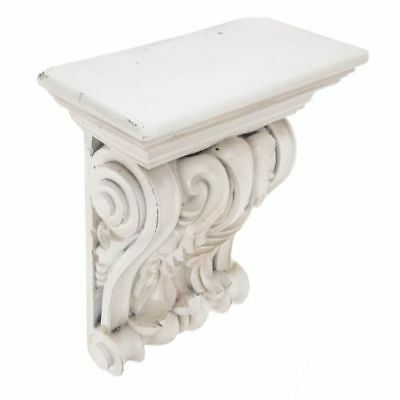 EXTRA LARGE RUSTIC CORBELS / BRACKETS Distressed Antique White Corbels Set Of 2