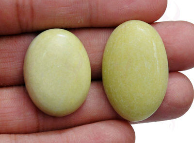 2 Pieces Of 27 To 31 Mm Oval Shaped Gaspeite Gemstone Ss1194