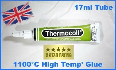 Oven Glue Fireplace Glue Thermocoll for Gaskets-Fireproof 1100 ° C 17 ML