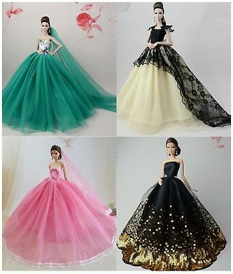 4 PCS Fashion Royalty Princess Party Dress/Clothes/Gown For 11.5in.Doll Y02U