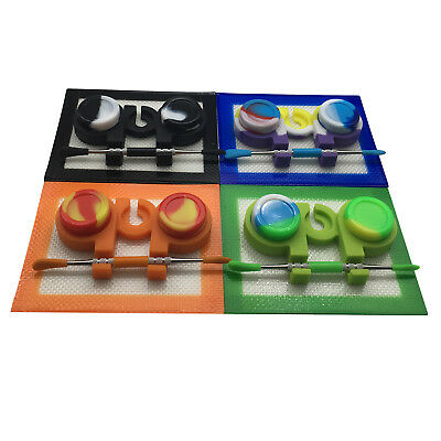 1  Silicone Dabber Kit 5ml Container Dab Jar Holder Mat Tool Set