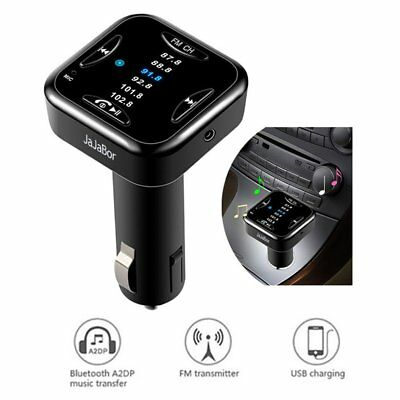 A01 Car Bluetooth MP3 FM Transmitter AUX-in Wireless Hands-free USB Charger FK