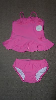 "**BNWT** Girl's Pink Two Piece ""Ruffle"" Swimsuit – Size 00"