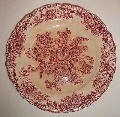 """Crown Ducal Bristol Dish Red Floral - Made in England - 762055 - 5 7/8"""" Diameter"""