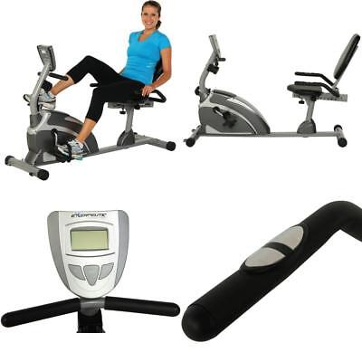 NEW Exerpeutic 1000 High-Capacity Magnetic Recumbent Exercise Bike with Pulse US