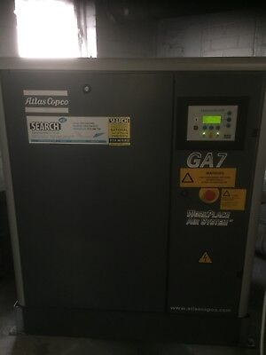Atlas copco ga7 screw compressor Dryer 350l tank and ring main. Ideal body shop