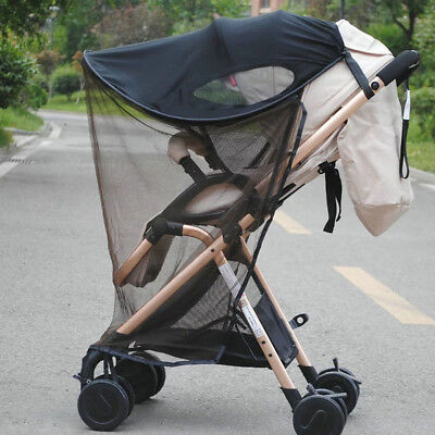 Baby Universal Insect Mosquito Repellent Sun Shade For Strollers Car Seat Black