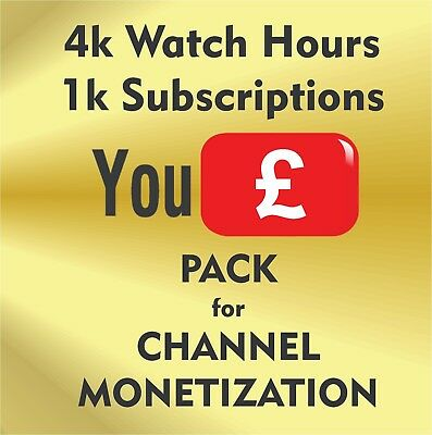 Monetization Pack=> 100k Volunteers = Views + Subs / Service fits for YT Channel