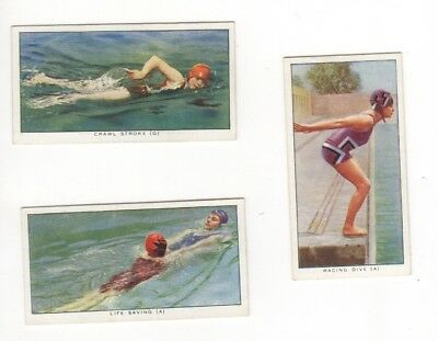 Swimming & Diving cigarette cards
