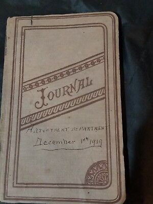 antique cloth-bound journal 1919 Shallcross Printing and Stationary Co