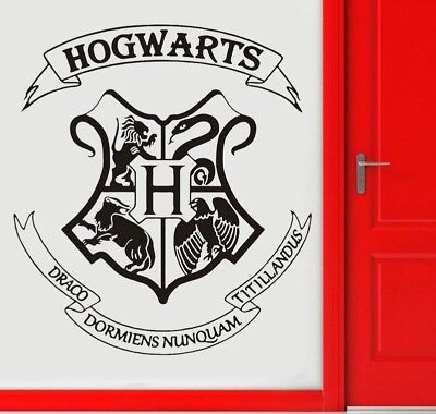 Harry Potter Hogwarts School Badge Vinyl Wall Sticker Home Decor Room Door Decal