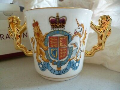 Boxed Paragon Fine China Loving Cup / Mug Golden Jubilee Elizabeth II 1952 2002