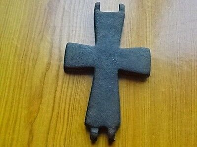 Authentic Medieval Byzantine Reliquary Cross Crucifix Circa 800 -1000 AD RARE.