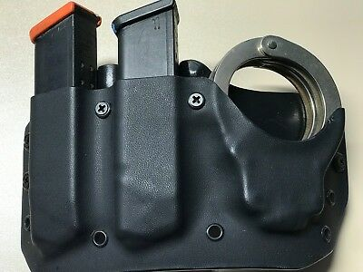 FITS 1911 EIGHT or ten round Double mag and Handcuff Pouch