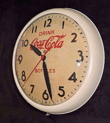 "Rare Antique Original Coca Cola advertising Clock Sign ""  Seth Thomas ""  Nice  """