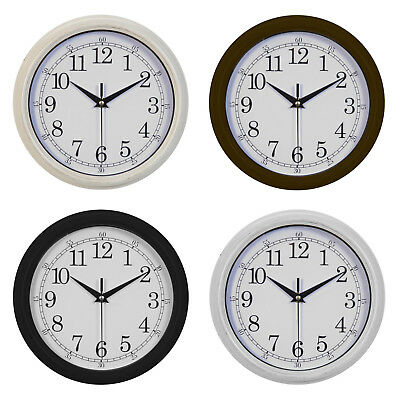 Hometime Basic Small Plastic Round Wall Clock - 4 Colours