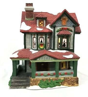 DICKENS COLLECTIBLES Classic Series Christmas Village Porcelain Lighted House