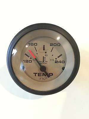 Teleflex Sahara Tan Boat Engine Water Temp~Temperature  Gauge~12V~59706~Marine