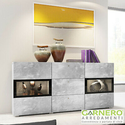 CREDENZA MODERNA EMOTION Gihome ® cemento mobile madia ...