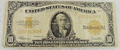 $10 Large Note Gold Seal Series of 1922