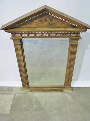 Vintagae LaBarge Mirror; Neoclassic Style With Antiqued Finish & Painted Details