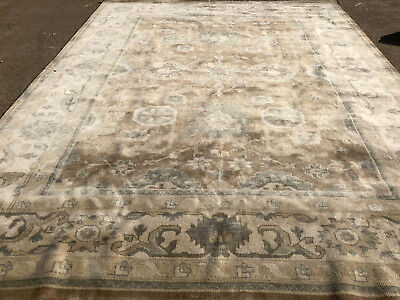 9x12 Wool Rug Brown Persian Hand Knotted Woven Handmade Oriental New