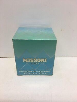 Missoni Acqua Women Perfume Eau De Toilette Spray 1.0 oz / 30 ml NIB Sealed