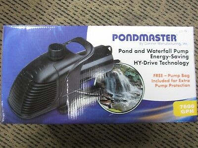 PondMaster Pond & Waterfall Pump 7600GPH 20235 BRAND NEW