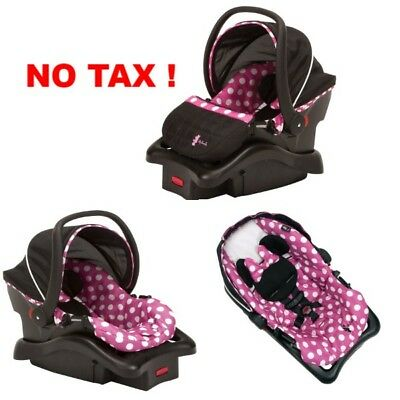 Disney Baby Light Infant Insert Car Seat With Base For Girls Minnie Dot Pink