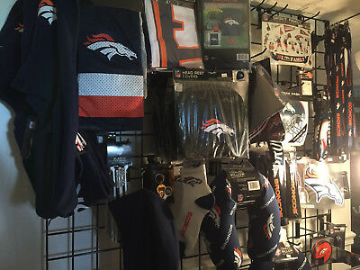 NFL Denver Broncos Stock and Clothing Lot