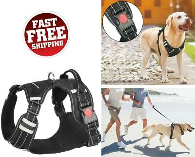 No Pull Large Dog Harness Big Dogs Easy Walk Control Reflective Soft Padded Vest
