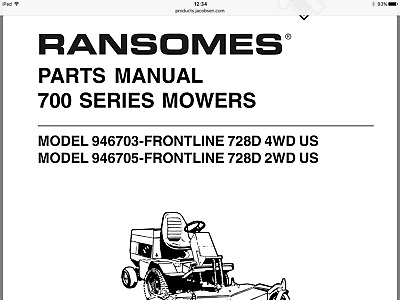ransome ride on mower gang mower manuals on pdfs files 5 99 rh picclick co uk Ransome Push Mower ransomes gang mower spare parts