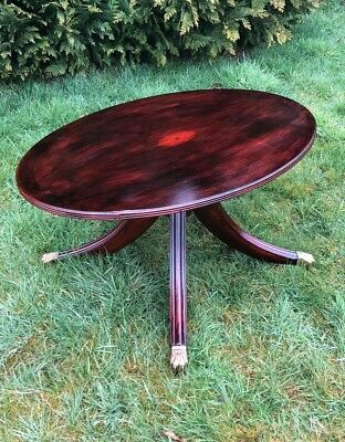 Beautiful Antique Vintage Wooden Small Table on Casters