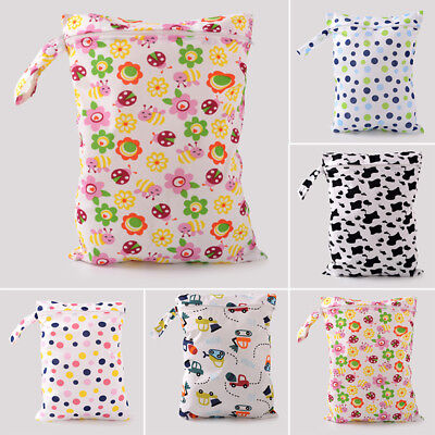 Cute Waterproof 1pc Wet Bag Baby Dry Tote Reusable Cloth Foldable Nappy Diaper