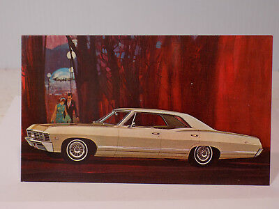 New Old Stock 1967 Chevrolet Impala Dealers Promo Post Card Unused Litho in USA