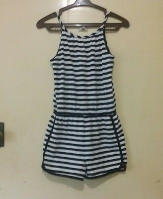 Girls Clothing Target Jumpsuit One-Pieces Black & White Stripes Size 10