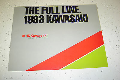 1 Kawasaki 1983 Fulline Brochure NOS.6 pages,Poster Type,Text in English.