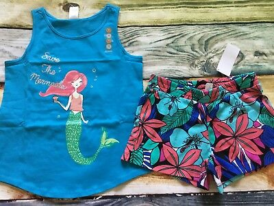 Gymboree Mix N Match Save Mermaids Top Floral Shorts NWT 5 6 7 8 10 12 Outlet