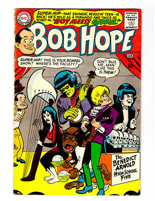 THE ADVENTURES OF BOB HOPE #96 in FN condition 1965 DC comic Super-Hip Monsters