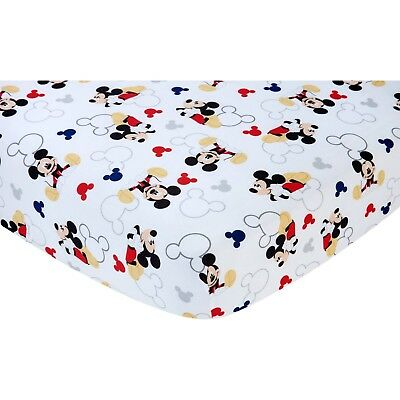 Disney Let's Go Mickey II Crib Fitted Sheet