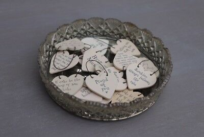 East of India tiny wooden message heart keepsake gift tag sign
