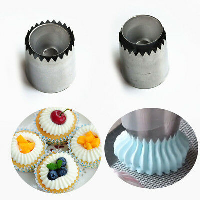 Russian Ring Piping Nozzles Ice Cream Stainless Steel Icing Nozzle Baking Tool