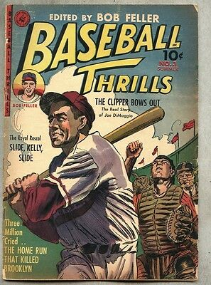 Baseball Thrills #3-1952-gd/gd+ Joe DiMaggio Yankees / Everett Raymond Kinstler
