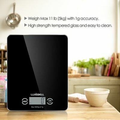 Digital Kitchen Scale g/Lb/oz Max 11 lbs / 5kg Food Cooking Weighing Measure