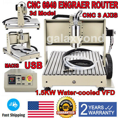 Usb 3 Axis 6040T Cnc Router Engaver Engraving Machine Cutter Crafts Carving Ball