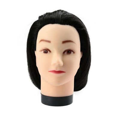 Practice Model Mannequin Cut with Clamp Cosmetology Salon Barber Training +Clamp