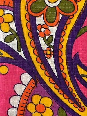 Vintage retro kitsch psychedelic flower power MCM table cloth - never used